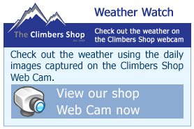 Check out the weather on the Climbers Shop webcam!