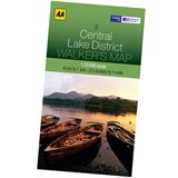 AA Central Lake District Laminated 1:25000 Walking Map