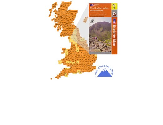 Ordnance Survey EXP OL5 NE Lake District