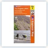 Ordnance Survey EXP OL6 SW Lake District - Laminated