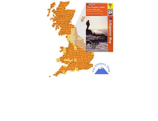Ordnance Survey EXP OL7 SE Lake District - Laminated