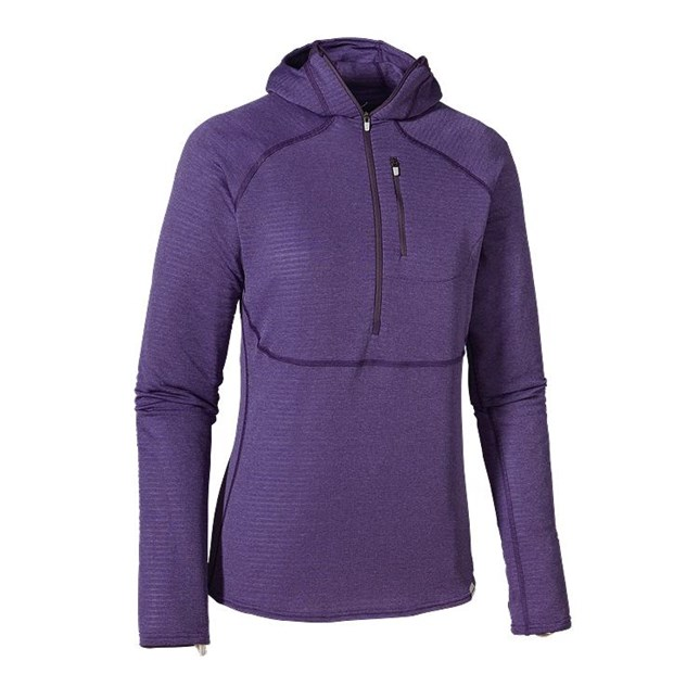 Patagonia Womens Capilene 4 Expedition Weight 1/4 Zip Hoody