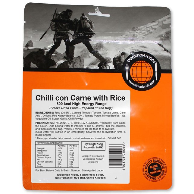 Expedition Foods - Chilli Con Carne - High Calorie Serving