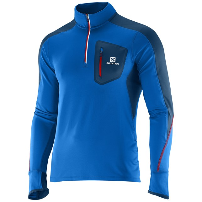 Salomon Trail Runner Warm Long Sleeved Zip Tee