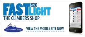 Fast & Light - Climbers Shop Mobile Friendly Shopping